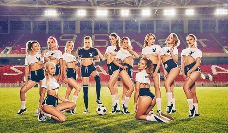 Журнал Playboy Russia опубликовал фотосессию посвященную Чемпионату мира по футболу 2018