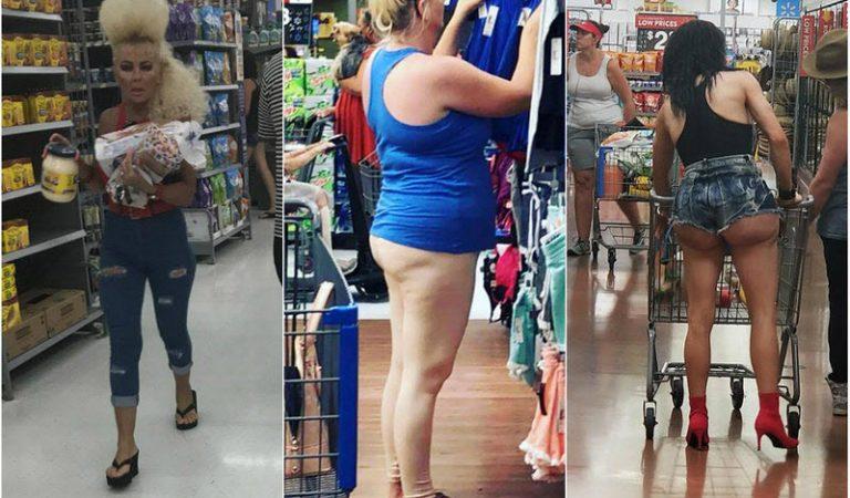 Модные покупатели американского супермаркета Walmart. Часть 1