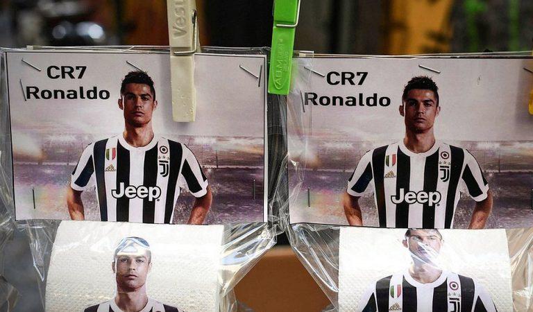 В Италии поступила в продажу туалетная бумага лицом которой стал Криштиану Роналду